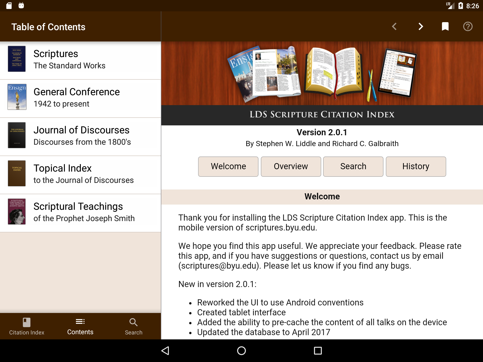 LDS Scripture Citation Index for Android Project